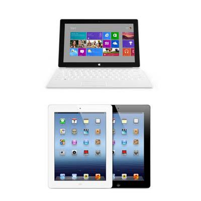 Head-to-Head: Microsoft Surface Vs  Apple iPad