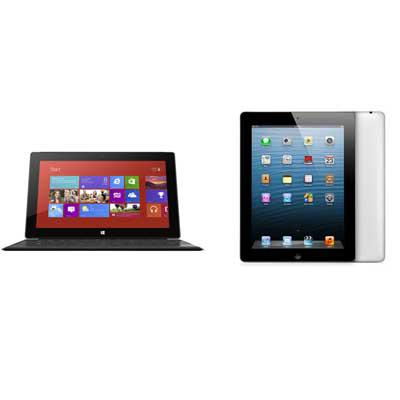 Head-to-Head: Microsoft Surface Pro vs  Apple iPad 4