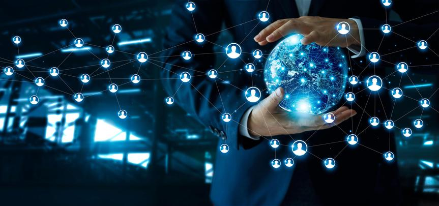 data technology technologies background qualtrics gartner wan quadrant magic connection edge tools sap infrastructure networking businessman dark elements nasa crn