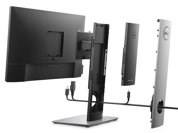 Dell's new OptiPlex 7070 Ultra hides PC inside a custom monitor stand