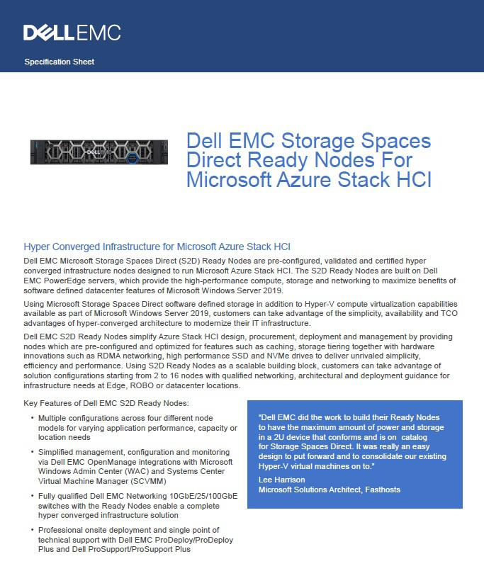 Dell EMC Solutions for Azure Stack HCI